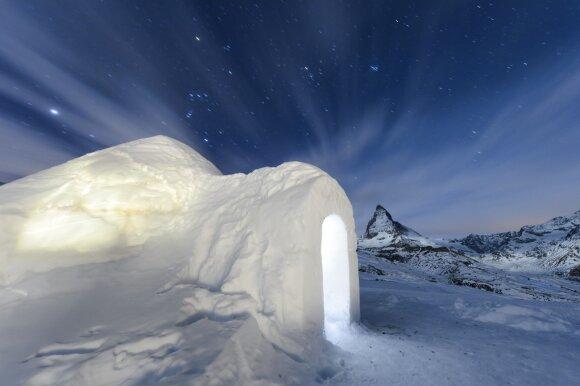 Iglu viešbučiai Alpėse
