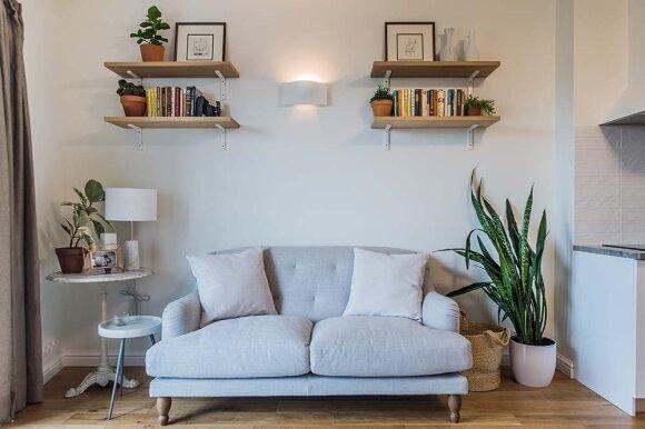 Subtiliai dekoratyvus 3 kambarių studentės butas Kaune
