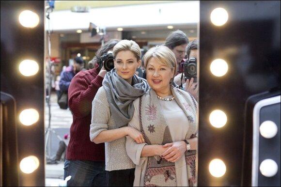 Agnė Jagelavičiūtė ir jos mama Nijolė