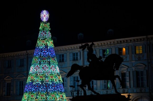 Kalėdų eglė Turine