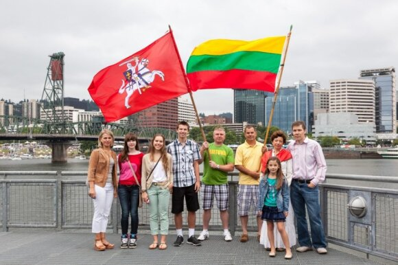 Lithuanian national anthem sung in the US