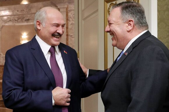 M. Pompeo ir A. Lukašenka