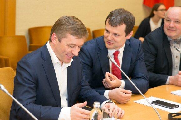 Ramūnas Karbauskis, Gintautas Paluckas ir Juozas Olekas