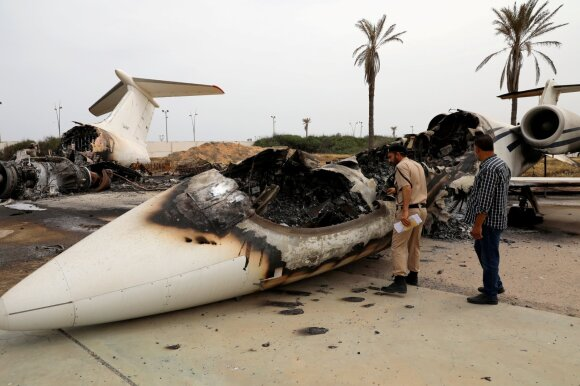 Apšaudytas Tripolio oro uostas