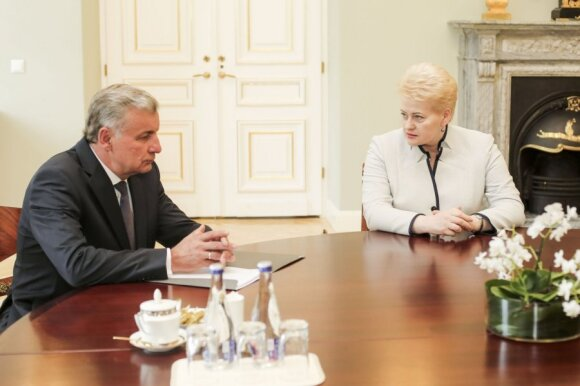 Dalia Grybauskaitė ir Rimantas Sinkevičius