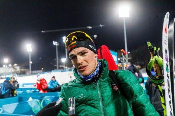 Pjongčango olimpiada: 12,5 km persekiojimo lenktynės – Tomas Kaukėnas ir Vytautas Strolia