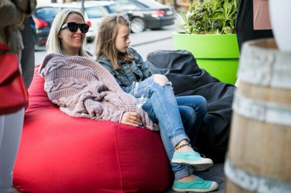 Elena Puidokaitė su dukra Saule