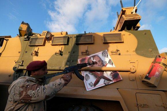Khalifa Haftaro kovotojas