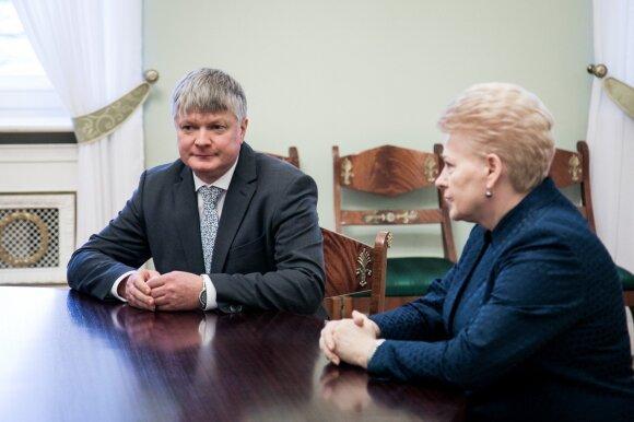 Kęstutis Navickas susitinka su Dalia Grybauskaite