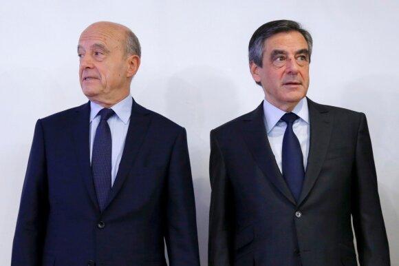 Alainas Juppe ir Francois Fillonas