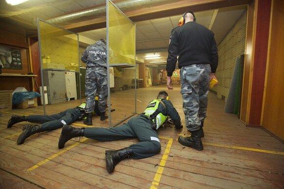 Policijos šaudymo pratybos
