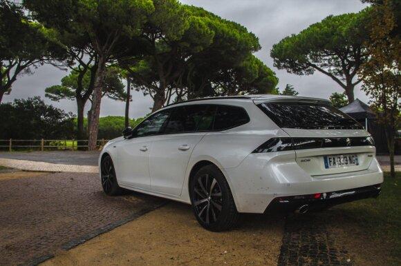 """Naujas """"Peugeot 508 SW"""". Aivaro Grigelevičiaus nuotr."""