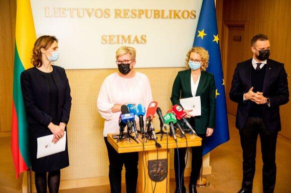 Viktorija Čmilytė-Nielsen, Ingrida Šimonytė, Aušrinė Armonaitė, Gabrielius Landsbergis