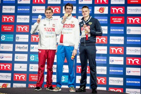 (iš kairės) Radoslawas Kaweckis, Klimentas Kolesnikovas, Danas Rapšys