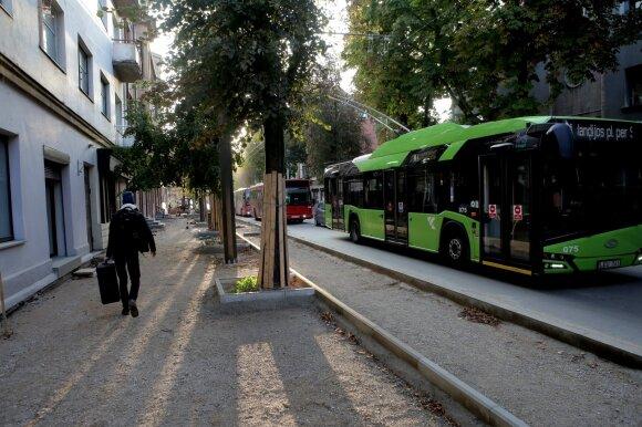 Kauno centre remontuojama Kęstučio gatvė