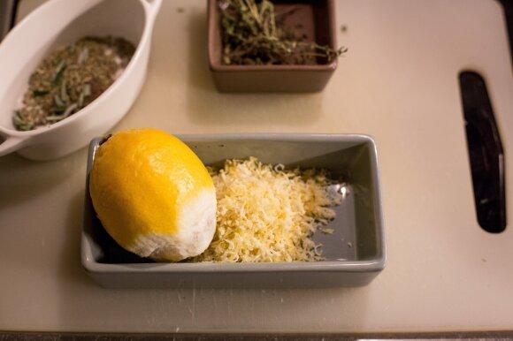 Ekologiškos citrinos tarkuotos žievelės