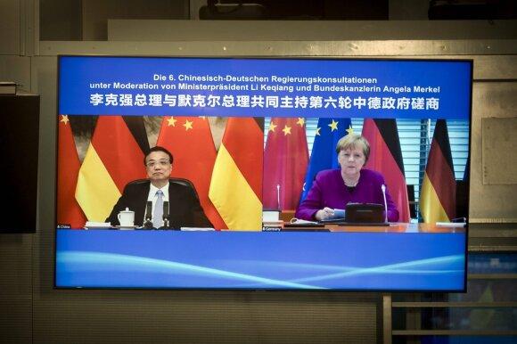 Li Keqiangas, Angela Merkel