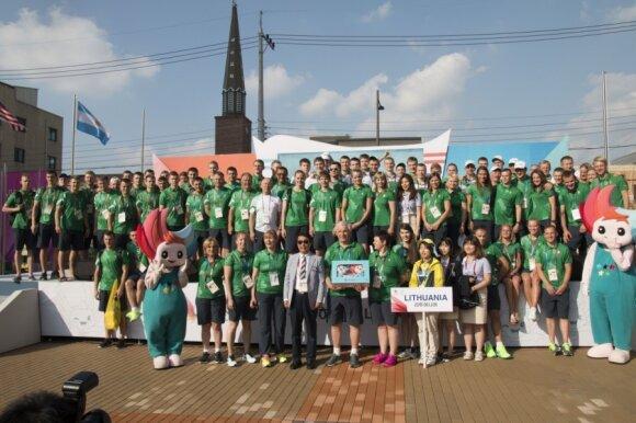 Lietuvos sportininkų delegacija universiadoje (LSSA nuotr.)