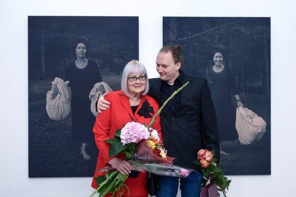 Marija Šileikaitė Čičirkienė su sūnumi Mantu Misevičiumi