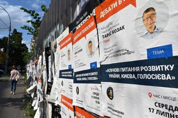 Rinkimų agitacija Ukrainoje