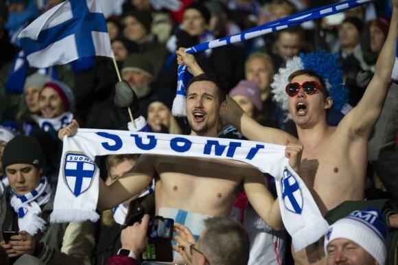 Suomijos rinktinės fanai
