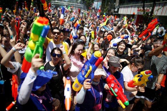 Vandens ginklų festivalis Pietų Korėjoje