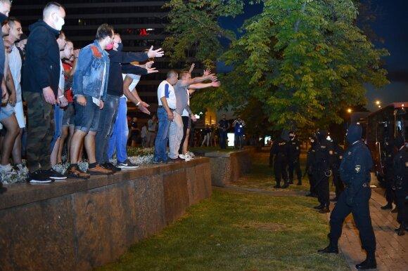 Baltarusiai protestuoja prieš prezidento rinkimų rezultatus