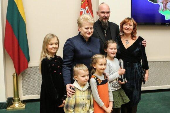 Dalia Grybauskaitė ir Jurgita Pocienė su šeima