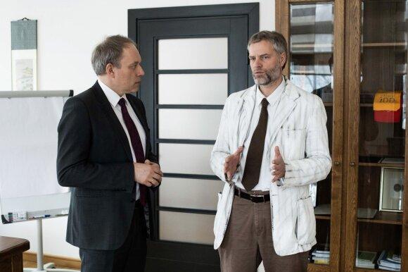 KTU rektorius Eugenijus Valatka ir Rimantas Kodžius