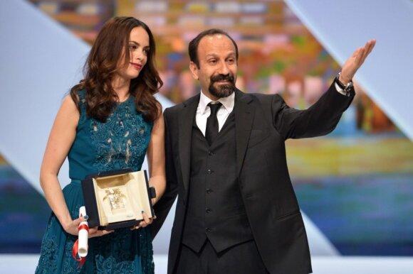 Aktorė Berenice Bejo ir režisierius Asghar Farhadi