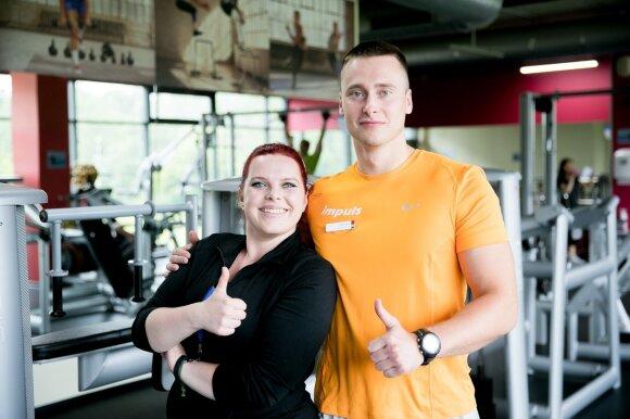 Justina ir treneris Mindaugas