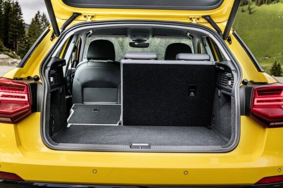 """Audi Q2"" erdvė gerai išnaudota"