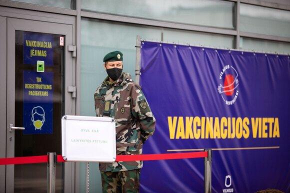 Vakcinacijos centras Vilniuje
