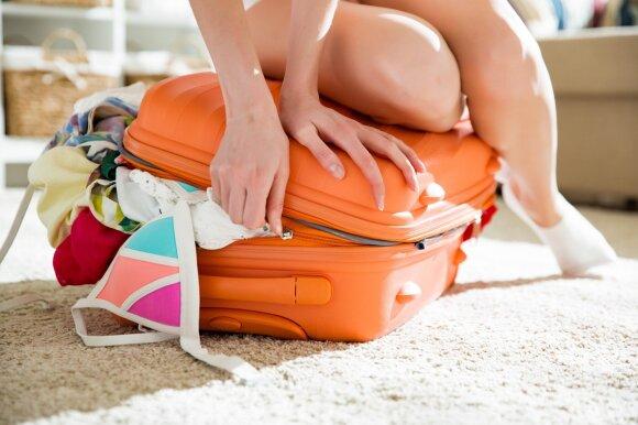Daiktai, kurie rankiniame bagaže be reikalo užima vietą
