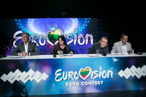 """""""Eurovizijos"""" filmavimas"""