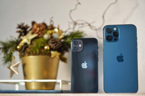 iPhone 12 Pro Max ir iPhone 12 mini