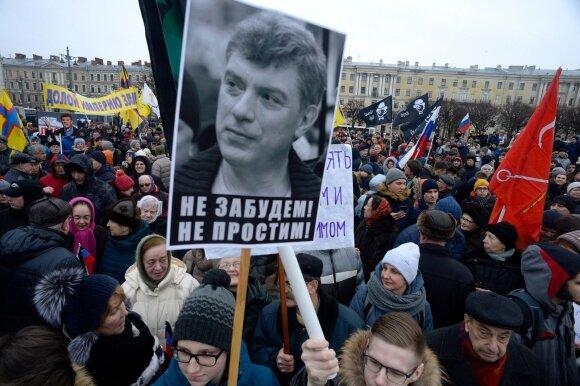 Eitynėse Maskvoje B. Nemcovui atminti