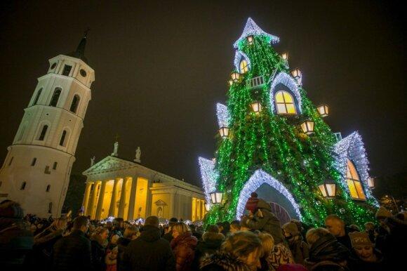 Kalėdų eglės įžiebimo šventė Vilniuje