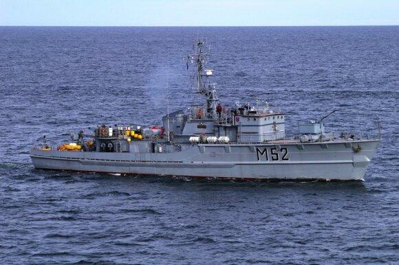 Российский эсминец создавал помехи в экономической зоне Литвы