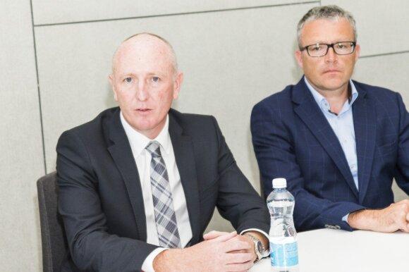 Vakarų Australijos Aplinkos ministras Stephenas Dawsonas ir USAD vadovas Gintaras Varnas