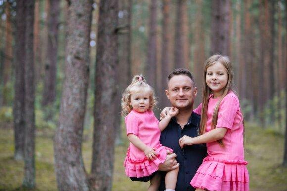 Dvi mergaites auginantis Andrius Rimiškis turi patarimą būsimiems tėčiams: lengva nebus