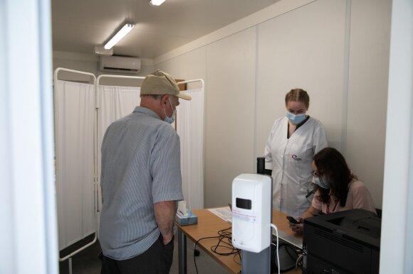 Vakcinavimo punktas Lukiškių aikštėje