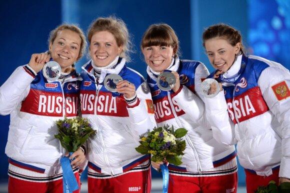 Trys iš keturių Sočio olimpinėmis vicečempionėmis tapusių Rusijos moterų estafetės komandos atstovių buvo diskvalifikuotos dėl dopingo vartojimo