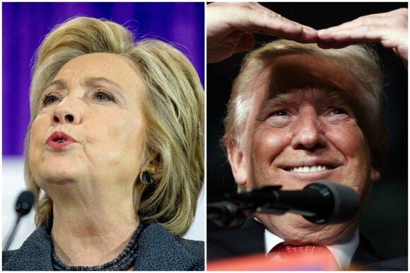 Hillary Clinton ir Donaldas Trumpas