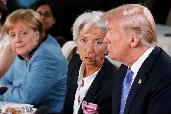 Angela Merkel, Christine Lagarde, Donaldas Trumpas