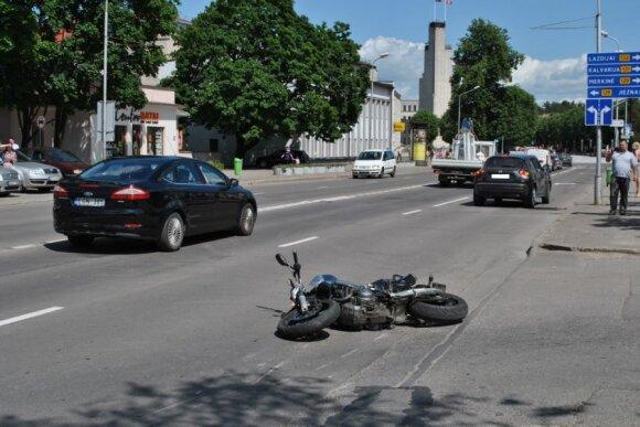 Alytiškis nesuvaldė motociklo