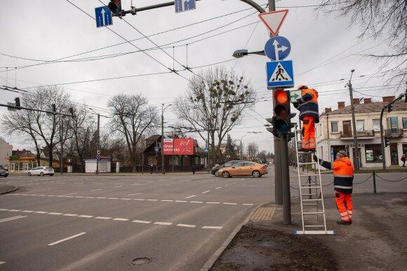 Žalios rodyklės grąžinamos į Kauno gatves