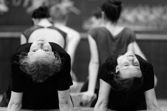 """Spektaklio """"Procesas"""" repeticija (Martyno Aleksos nuotrauka)"""