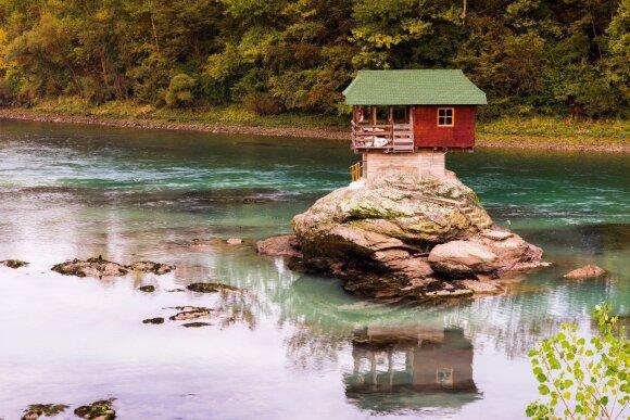 Namas Drina upėje