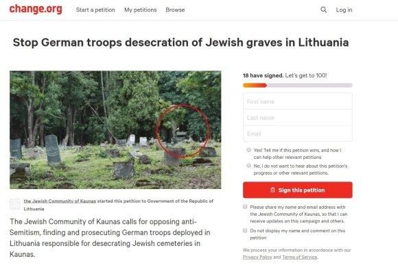 Pasaulį šiurpina melaginga naujiena: kaltina NATO tankus išniekinus Kauno žydų kapines